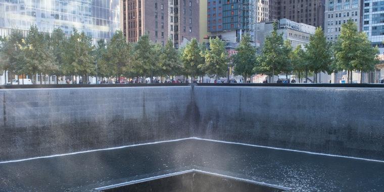 Ground Zero memorial or September 11 Memorial pool at the