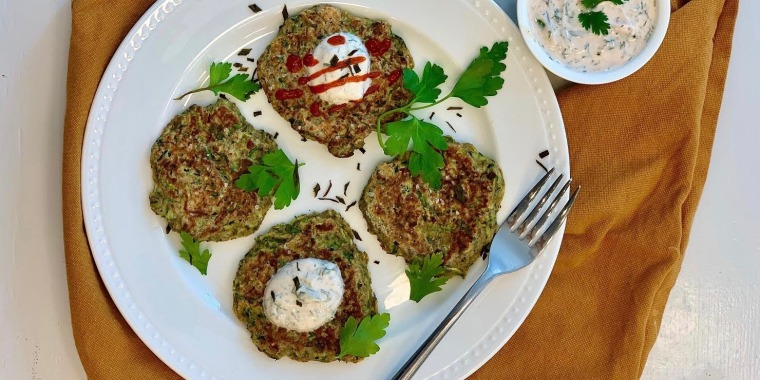 Give this morning staple a savory spin with superfoods and an herb yogurt sauce.