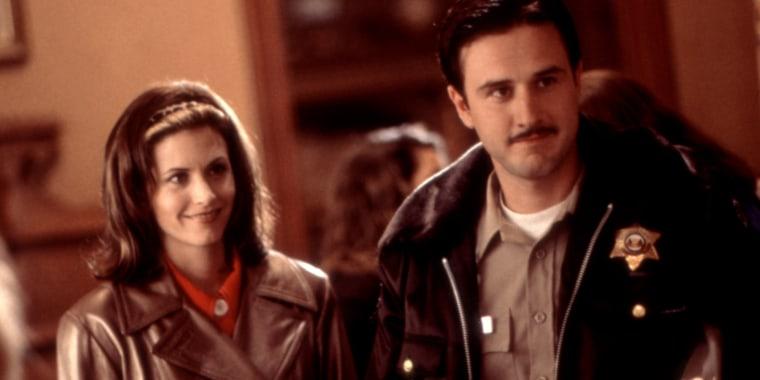 SCREAM, Courteney Cox, David Arquette, 1996, (c)Dimension Films/courtesy Everett Collection