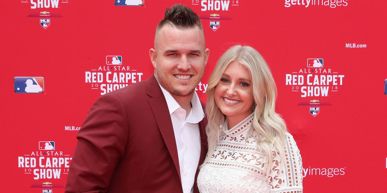 Mike Trout and wife Jessica Trout