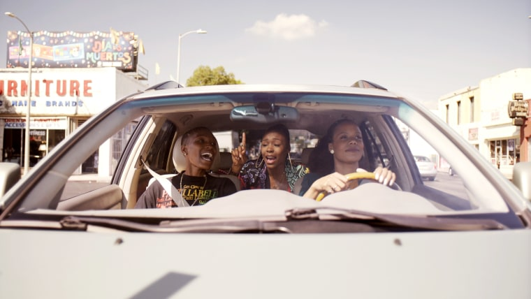 "Image: Jonica \""Jojo\"" T. Gibbs as Hattie, Gabrielle Graham as Nia, and Christina Elmore as Marie in an episode of \""Twenties.\"""