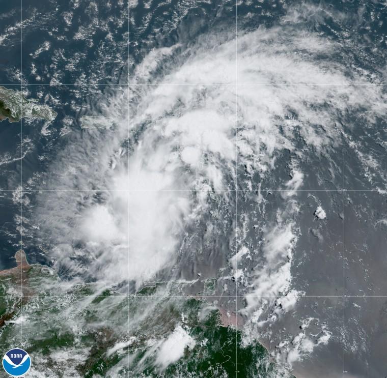 Potential Tropical Cyclone 9 near Puerto Rico.