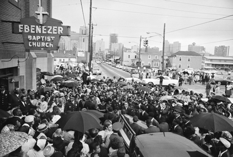 Crowd Outside Ebenezer Baptist Church