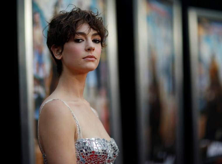 """Image: Brigette Lundy-Paine at a premiere of \""""Action Point\"""" in Los Angeles"""
