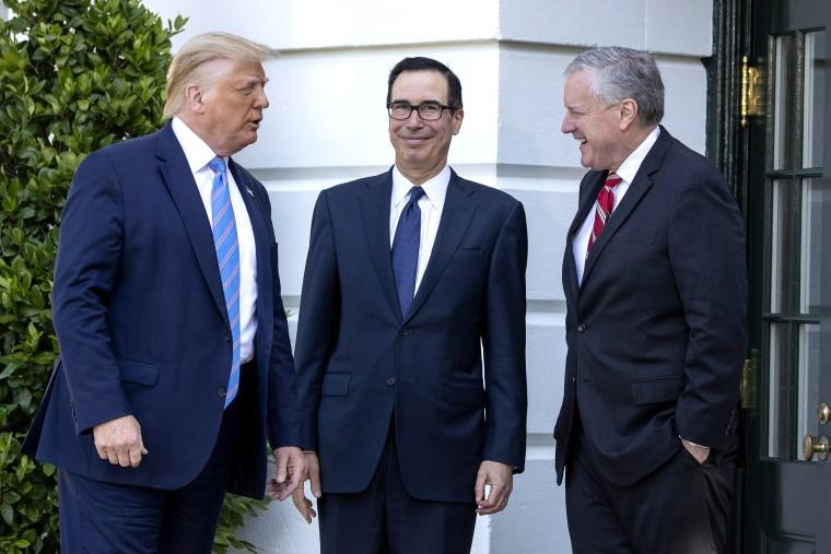 Image: Donald Trump, Steven Mnuchin, Mark Meadows
