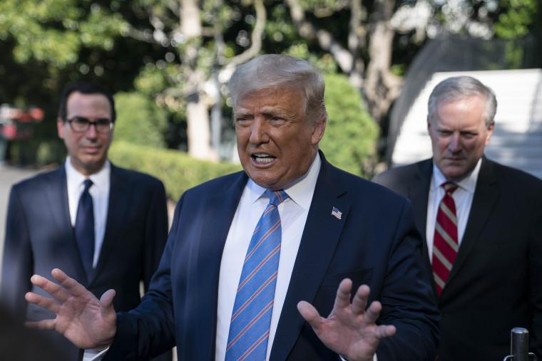 President Trump Departs White House For Texas