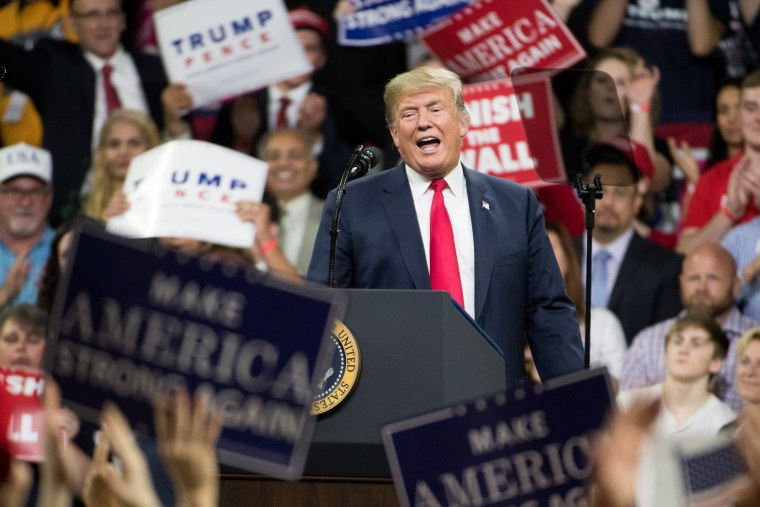 Image: Donald Trump Holds MAGA Rally In Johnson City, Tennesee