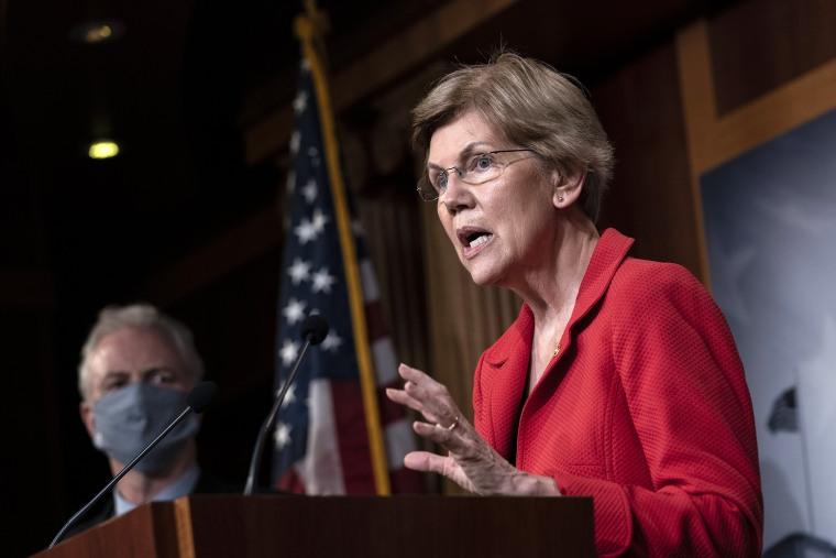 Image: Leading Senate Democrats Call For Eviction Protection In Next Coronavirus Bill