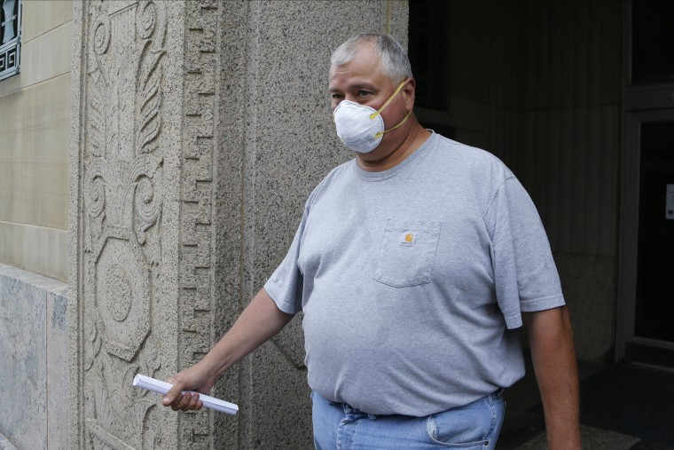 Ohio House Speaker Larry Householder leaves the Federal Courthouse after he was arrested in a $60 million federal bribery probe in Columbus on July 21, 2020.