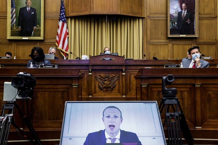 Image: Big Tech CEO's Testify Virtually Before House Judiciary Committee