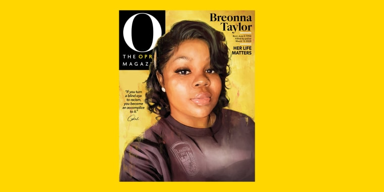 The September 2020 Cover of O, The Oprah Magazine pays tribute to Breonna Taylor.