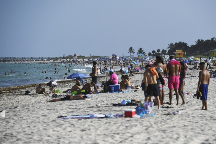 View of Miami Beach as Miami Dade County is mandating a daily 8 p.m. to 6 a.m. curfew on July 28, 2020.