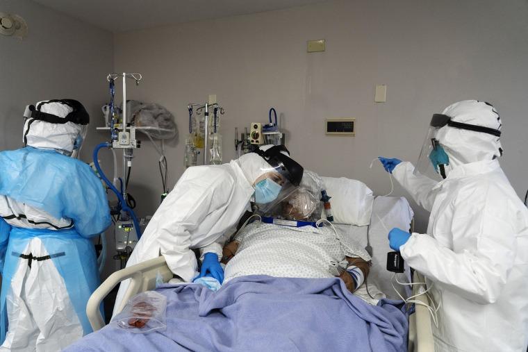 Image: Houston Hospital Struggles With Coronavirus Surge In Texas