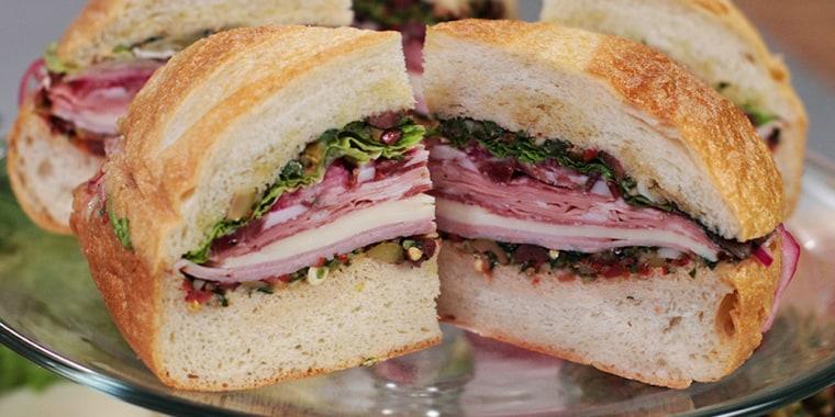 Andrew Zimmern's Muffuletta Sandwich