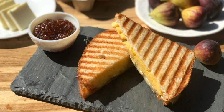 Kristen Little's Brie, Fig and Scrambled Egg Panini