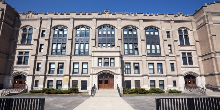 John F. Eberhart Elementary School in Chicago Lawn, a Chicago community on the Southwest Side