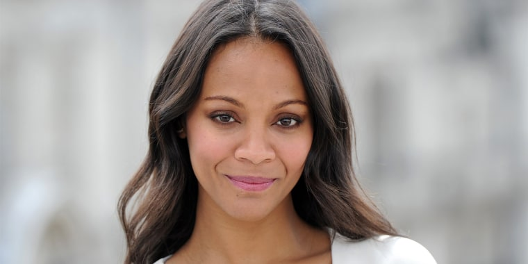 "Zoe Saldana attends the ""Guardians of the Galaxy"" photo-call in London on July 25, 2014"