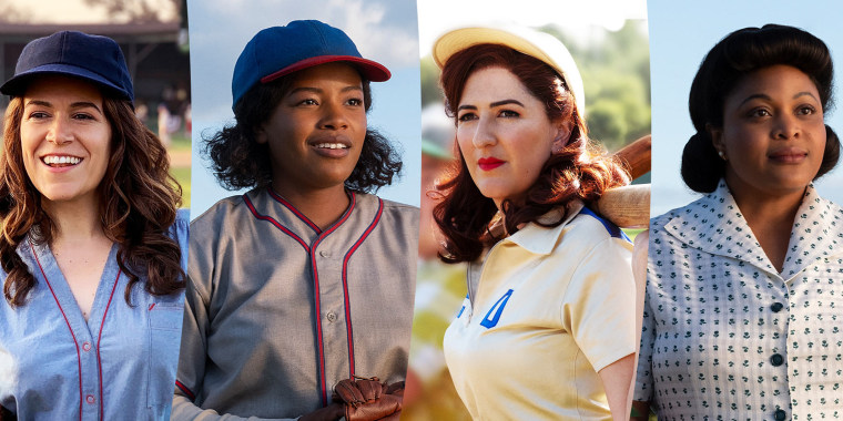 """The new cast of Amazon's """"A League of their Own"""" TV series."""