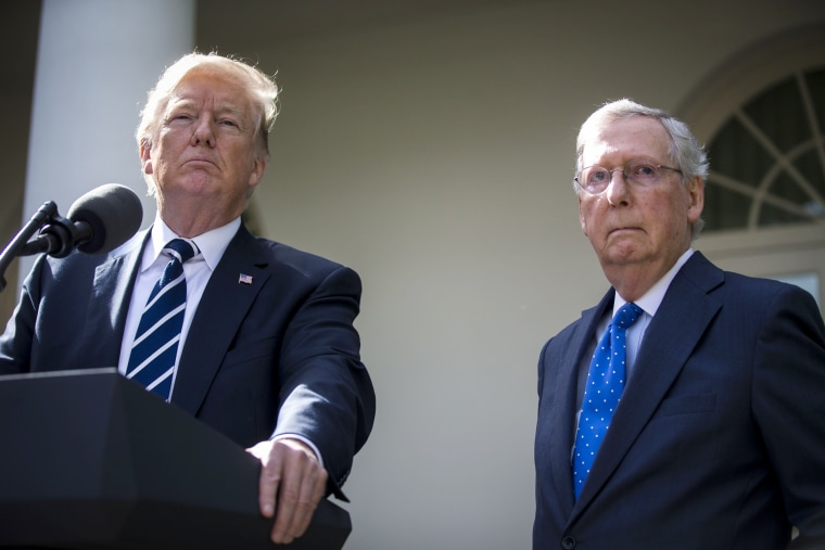 Image: President Trump and Senate Majority Leader McConnell Deliver Remarks After Meeting At The White House
