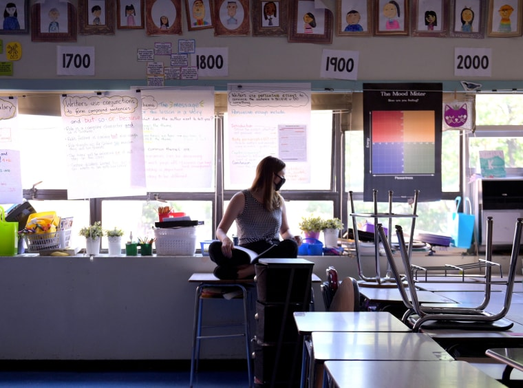Image: New York City School Prepares For Virtual Graduation