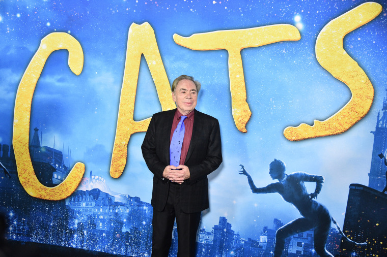 """Andrew Lloyd Webber attends the \""""Cats\"""" world premiere at Lincoln Center in New York City on Dec. 16, 2019."""