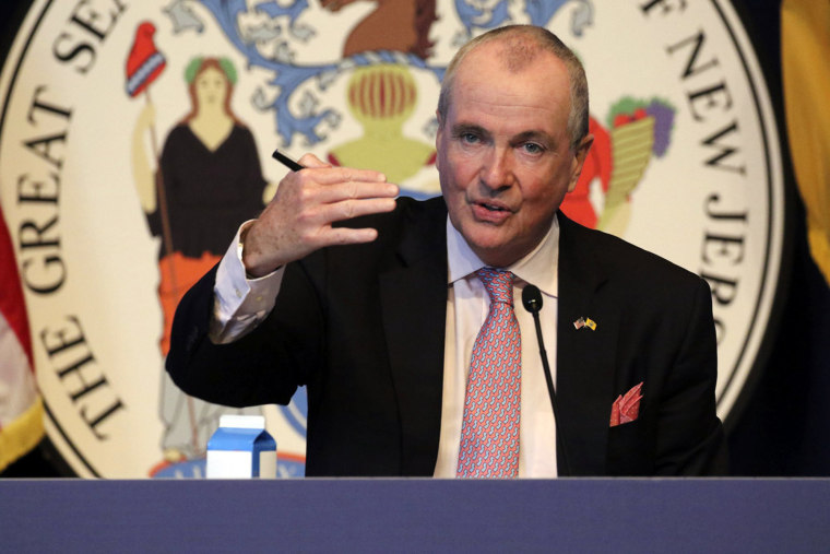 New Jersey Gov. Phil Murphy speaks during his daily coronavirus news conference in Trenton, N.J., on May 19, 2020.