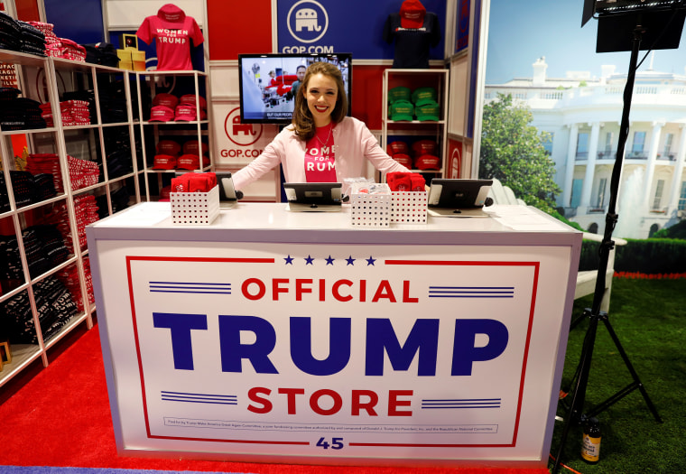 Image: Merritt Corrigan, Trump store at the CPAC conference at  National Harbor, Maryland