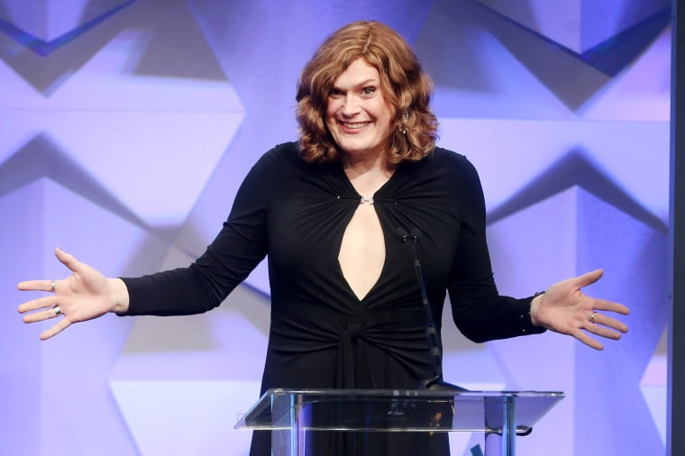 Director Lilly Wachowski accepts an award for Outstanding Drama Series during the 27th Annual GLAAD Media Awards in Beverly Hills, Calif., on Aug. 2, 2016.