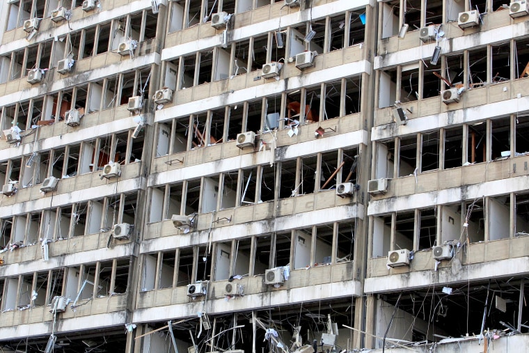 Image: Aftermath of Tuesday's blast in Beirut's port area