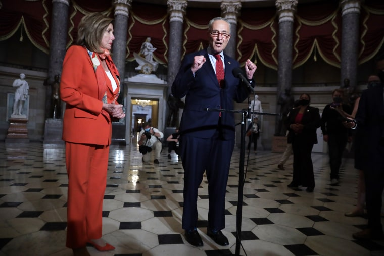 Image: Senate Minority Leader Charles Schumer and House Speaker Nancy Pelosi