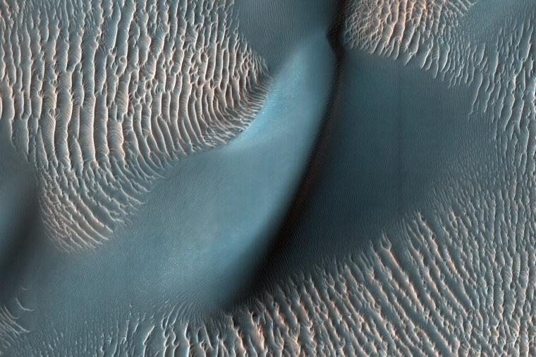 چقدر باد در مریخ است? megaripples شن و ماسه سرنخ ارائه می دهد.