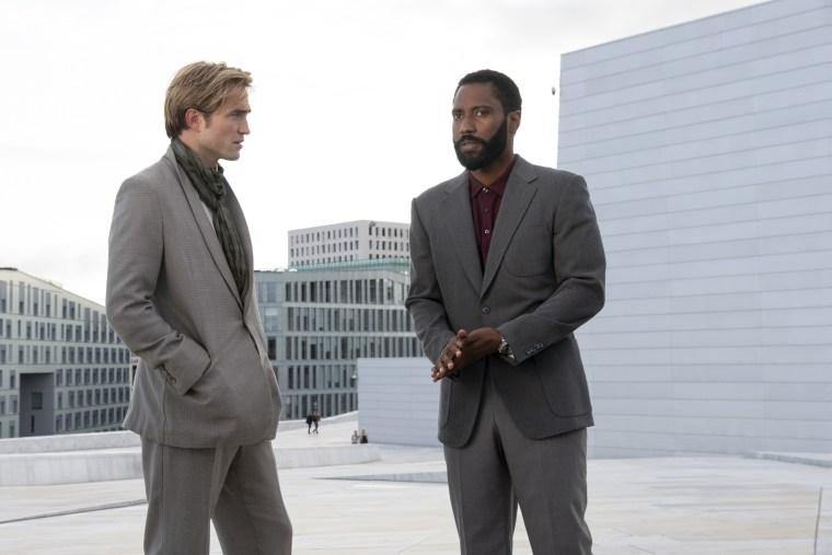 """Robert Pattinson and John David Washington in Warner Bros. Pictures' action epic """"TENET."""""""