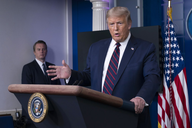 Image: President Trump Holds News Conference In Brady Press Briefing Room