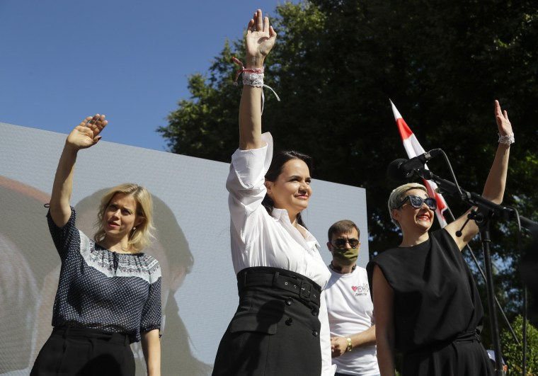 Image: Svetlana Tikhanovskaya, Maria Kolesnikova, Veronika Tsepkalo