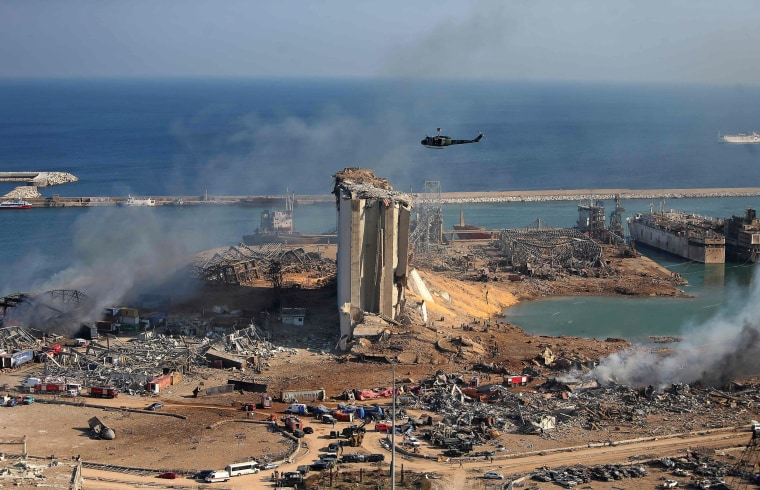 Image: TOPSHOT-LEBANON-BLAST