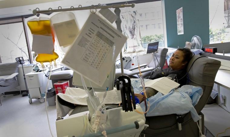 Image: Plasma donation
