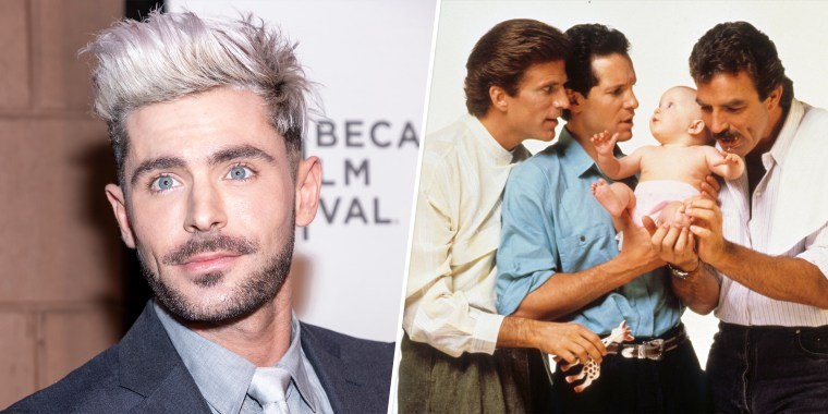 Efron will star in a remake of the hit comedy that featured Ted Danson, Steve Guttenberg and Tom Selleck.