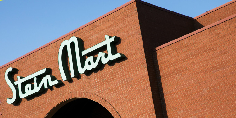 A logo sign outside of a Stein Mart retail store location in Greensboro, North Carolina on September 15, 2019.