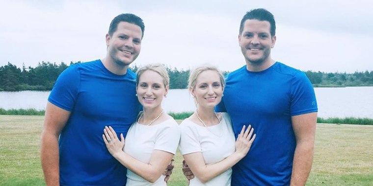 Josh and Jeremy Salyers, Brittany & Briana Deane