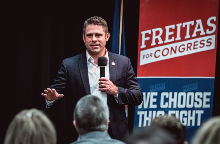 Delegate Nicholas Freitas, a Republican running for Congress in Virginia's 7th district