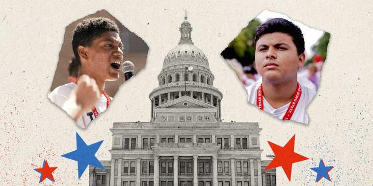 """René Otero and Steven Garza are two of the 1,100 high school students who come together to build an elaborate mock government in """"Boys State."""""""