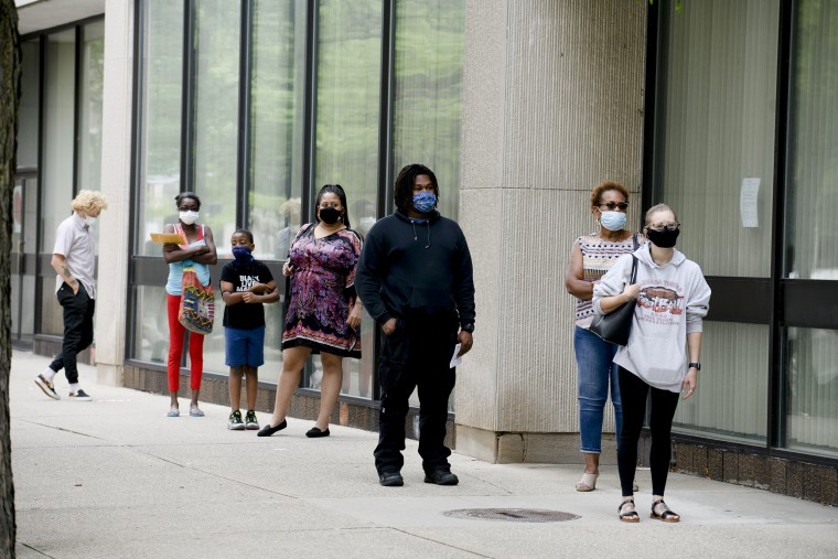Image: Michigan Voters Visit The Polls For State's Primary Election