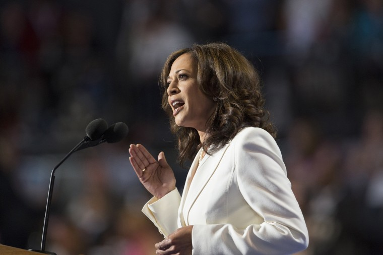 Kamala Harris, attorney general of California, speaks at the Democratic National Convention in Charlotte, N.C., in 2012.