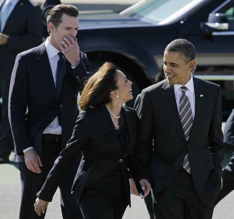 Image: Barack Obama, Kamala Harris