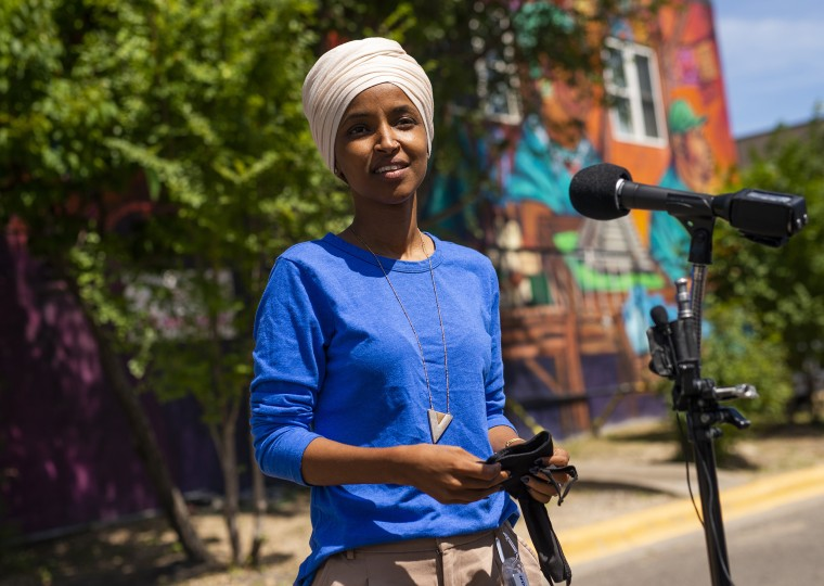 Image: Rep. Ilhan Omar Tries To Fend Off Challenger Antone Melton-Meaux In Reelection Bid