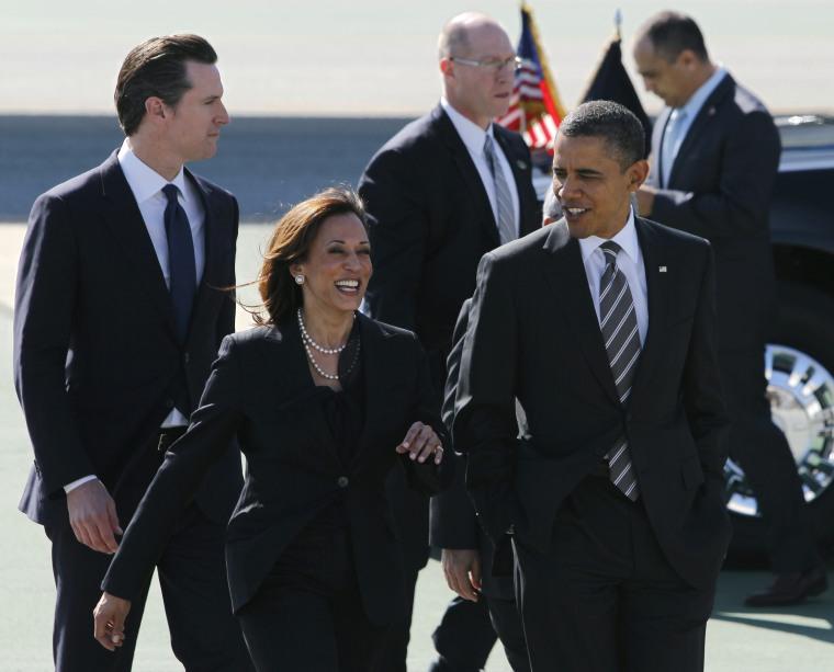 Image: Kamala Harris, Barack Obama
