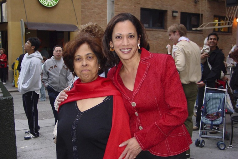Image: Kamala Harris with her mother, Shyamala, at a Chinese New Year parade in 2007.