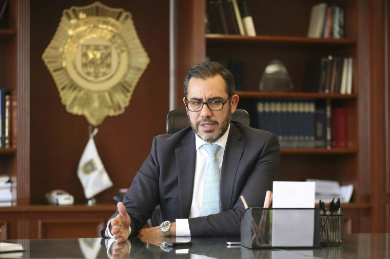 Then Mexico City police chief Jesus Orta in February 2019. A Mexican judge has issued warrants for Orta and 18 other former federal police officials under the last government for alleged organized crime and money laundering, officials said on Aug. 12, 2020.
