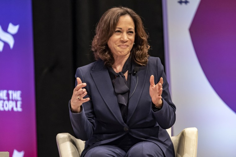 """Image: Kamala Harris, emocratic presidential candidates  Attend \""""She The People\"""" Forum In Houston"""