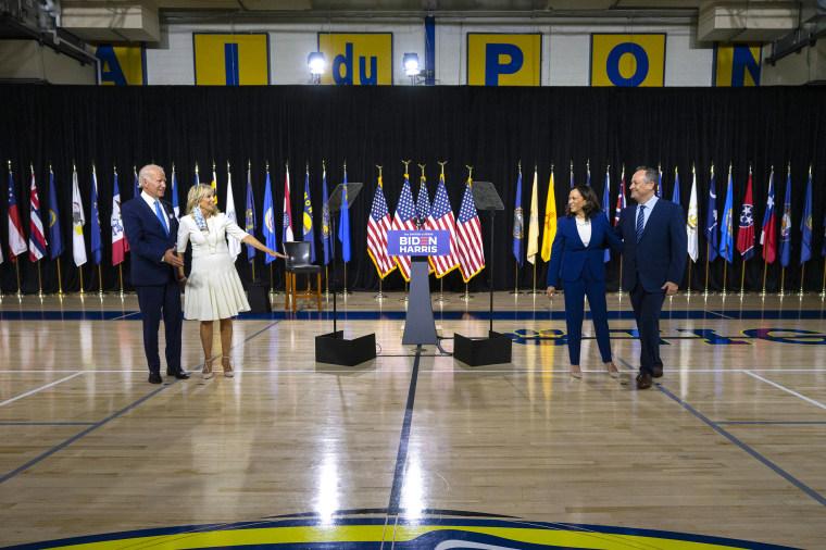 Joe Biden And Kamala Harris Hold First Event As Running Mates